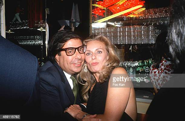 Bob Collacelo and Sylvia Di Serra Di Cassaro attend a Florence Grindat Party at Les Bains Douches in July 1993 in Paris France