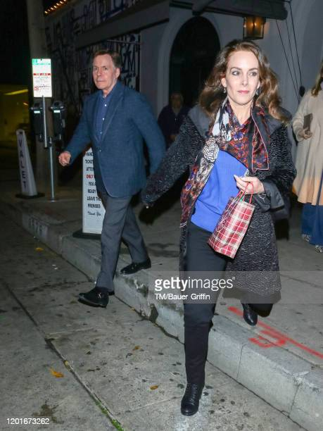 Bob Costas and Jill Sutton are seen on February 17 2020 in Los Angeles California