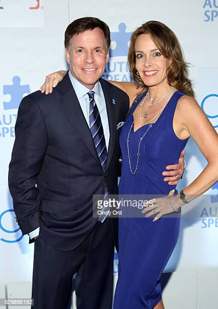 Bob Costas and Jill Sutton attend Lead Off For A Cure Autism Speaks and Major League Baseball join forces at The Metropolitan Museum Of Art on May 9...