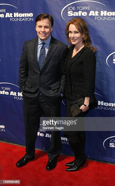 Bob Costas and Jill Sutton Costas attend the Joe Torre Safe At Home Foundation's 10th Anniversary Gala at Pier Sixty at Chelsea Piers on January 24...