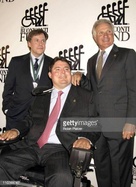 Bob Costas Marc and Nick Buoniconti during The 20th Annual Great Sports Legends Dinner Benefiting The Miami Project to Cure Paralysis at The Waldorf...