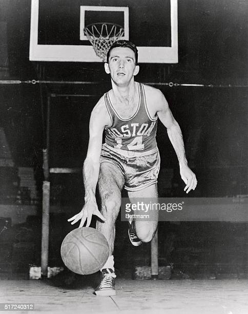 Bob Cousy Boston Celtics basketball player is shown in this photograph