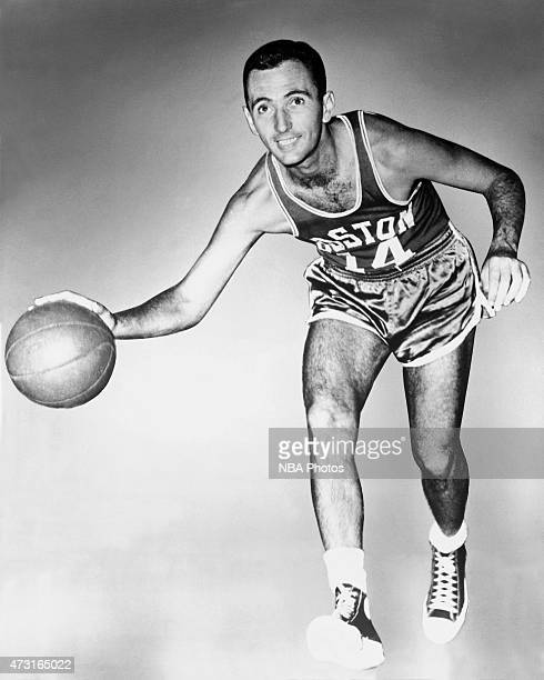 Bob Cousy of the Boston Celtics poses for a portrait circa 1950 at Boston Arena in Boston MA NOTE TO USER User expressly acknowledges and agrees that...