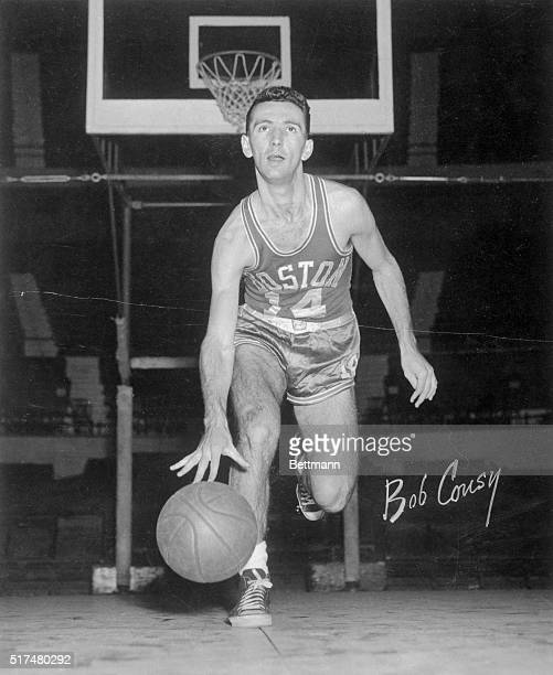 Bob Cousy the American basketball star is shown here in this undated photograph