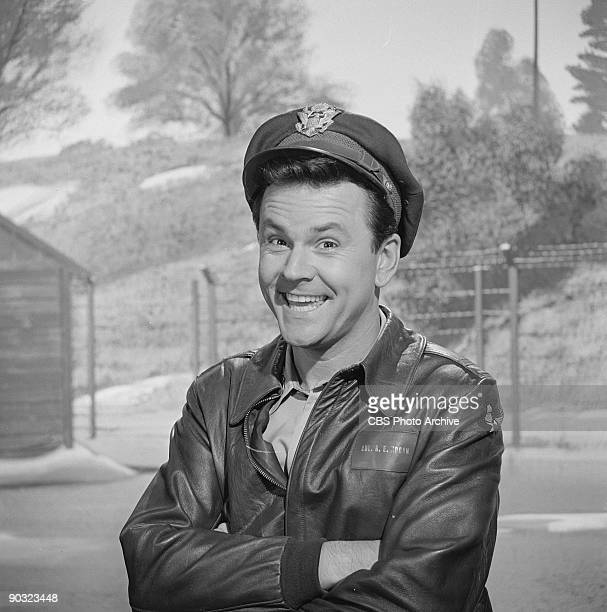 HEROES Bob Crane as Col Robert E Hogan in Happiness Is A Warm Sergeant an episode from the CBS television comedy series 'Hogan's Heroes' October 6...
