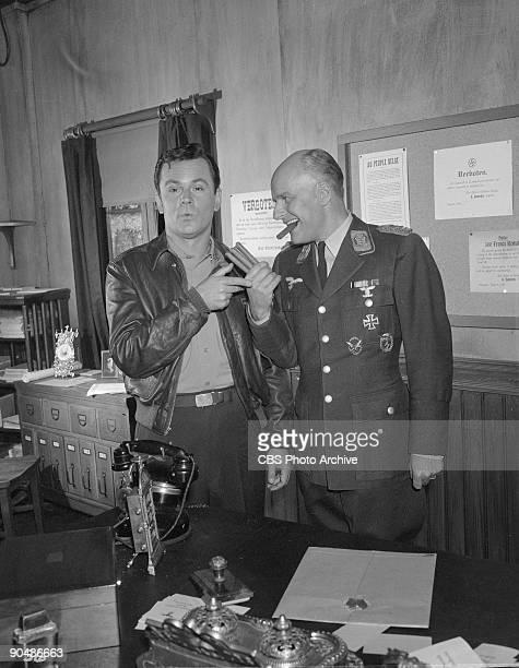 HEROES Bob Crane as Col Robert E Hogan left Werner Klemperer as Col Wilhelm Klink in the show�s pilot January 8 1965