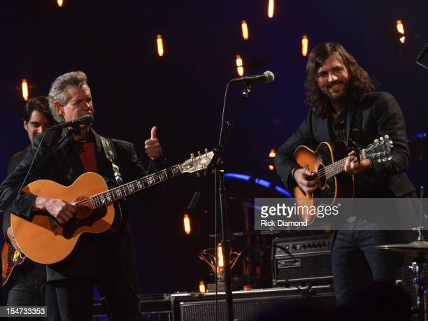 Bob Crawford Bob Crawford Avett Brothers Randy Travis and Scott Avett Avett Brothers perform during CMT Crossroads The Avett Brothers And Randy...