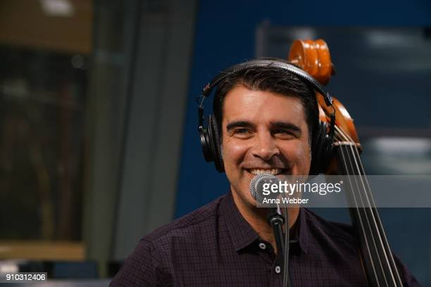 Bob Crawford performs during SiriusXM Town Hall With Judd Apatow Michael Bonfiglio The Avett Brothers Hosted By Kurt Loder at SiriusXM Studios on...