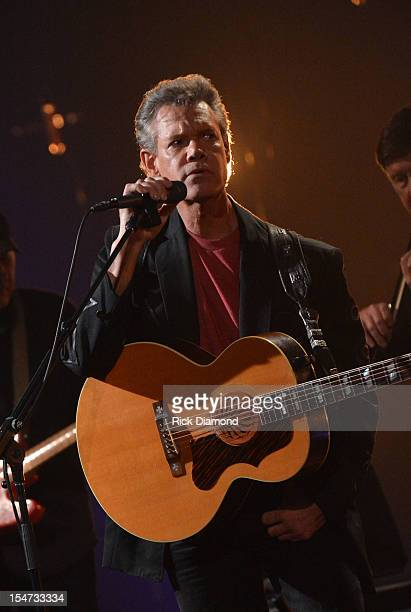 Bob Crawford Randy Travis performs during CMT Crossroads The Avett Brothers And Randy Travis tape at The Factory Liberty Hall in Franklin Tennessee...