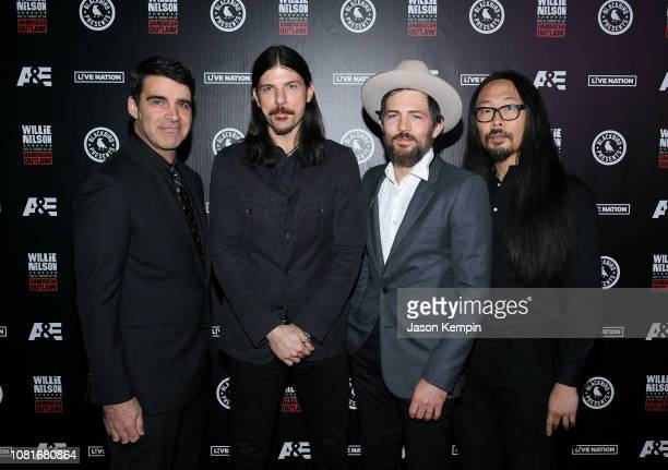 Bob Crawford Seth Avett Scott Avett and Joe Kwon of musical group The Avett Brothers attend Willie Life and Songs of an American Outlaw at...