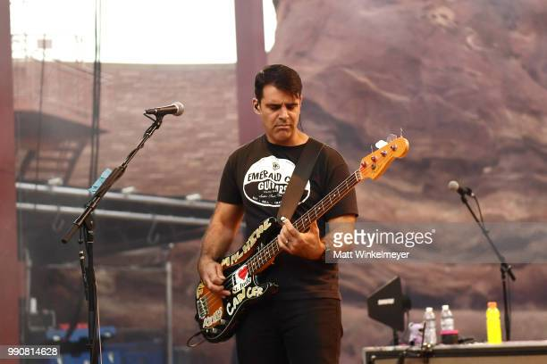 Bob Crawford The Avett Brothers performs at Red Rocks Amphitheatre on July 1 2018 in Morrison Colorado