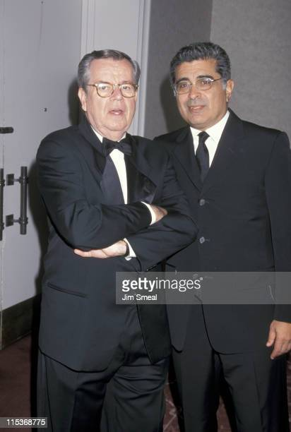Bob Daly and Terry Semel during 9th Annual BAFTA LA Britannia Awards September 14 1999 at Beverly Hilton Hotel in Beverly Hills California United...
