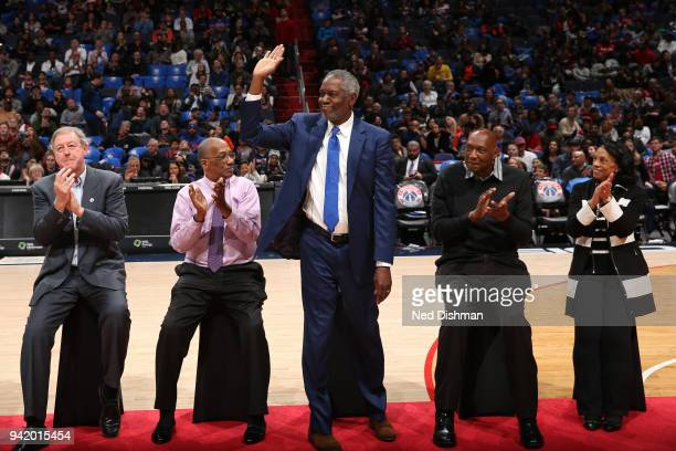 Bob Dandridge is being honored as the Washington Wizards celebrate the 40th Anniversary of the 1978 Bullets championship team at halftime of the game...