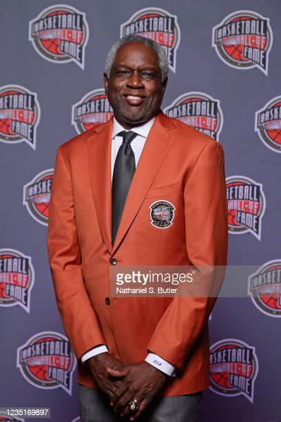 Bob Dandridge poses for a portrait during the Class of 2021 Tip-Off Celebration and Awards Gala as part of the 2021 Basketball Hall of Fame...