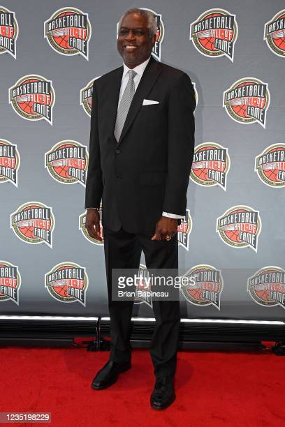 Bob Dandridge poses for a portrait on the red carpet during the 2021 Basketball Hall of Fame Enshrinement Ceremony on September 11, 2021 at...