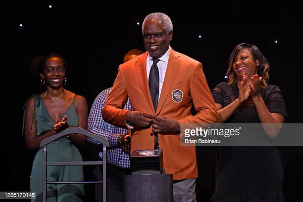 Bob Dandridge receives his jacket during the Class of 2021 Tip-Off Celebration and Awards Gala as part of the 2021 Basketball Hall of Fame...