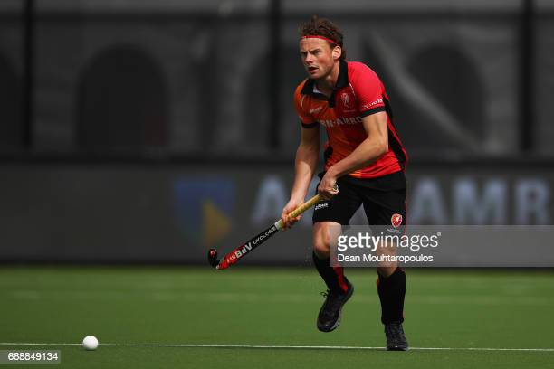 Bob De Voogd of HC OranjeRood in action during the Euro Hockey League KO16 match between HC OranjeRood and AH BC Amsterdam at held at HC OranjeRood...