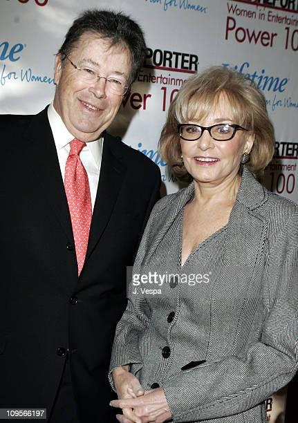 Bob Dowling editorinchief of the Hollywood Reporter and Barbara Walters