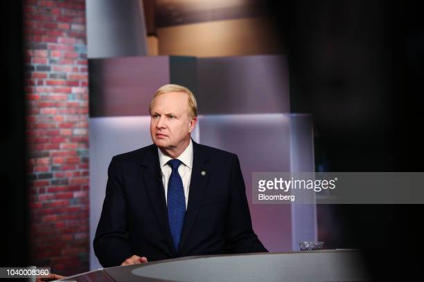 Bob Dudley chief executive officer of BP Plc speaks during a Bloomberg Television interview in New York US on Tuesday Sept 25 2018 BP Plcdoesn't see...