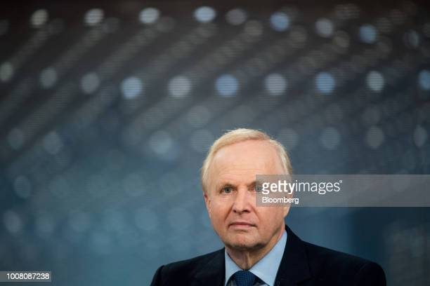 Bob Dudley chief executive officer of BP Plc pauses during a Bloomberg Television interview in London UK on Tuesday July 31 2018 After spending much...