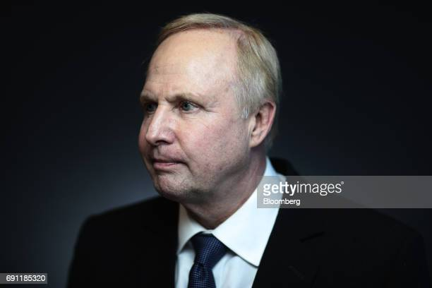Bob Dudley chief executive officer of BP Plc poses for a photograph following a Bloomberg Television interview during the St Petersburg International...