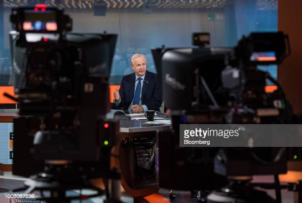 Bob Dudley chief executive officer of BP Plc speaks during a Bloomberg Television interview in London UK on Tuesday July 31 2018 After spending much...