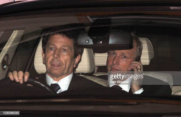 Bob Dudley the Executive Director of BP leaves BP Head Office in the back of a car on July 26 2010 in London England Tony Hayward the Chief Executive...