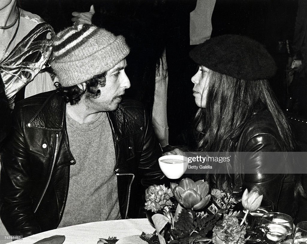 Bob Dylan and Rickie Lee Jones at the Chasen's Restaurant in Beverly Hills, California