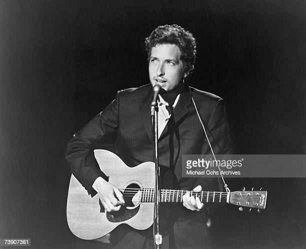 Bob Dylan appearing on The Johnny Cash Show ABC/TV Taped at Ryman Auditorium June 7 1969 in Nashville Tennessee