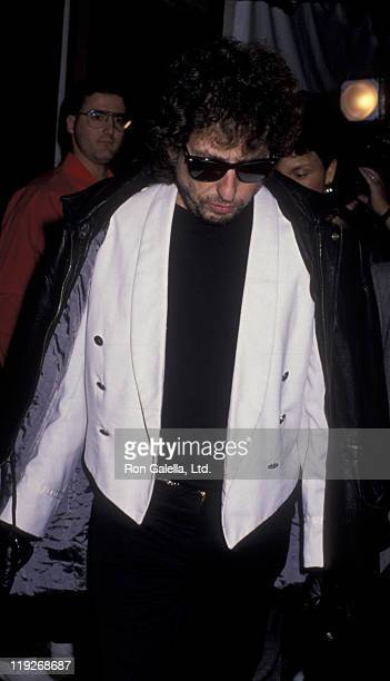 Bob Dylan attends Roy Orbison Tribute on February 24 1990 at the Universal Ampitheater in Universal City California