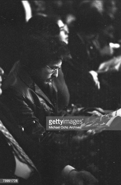 Bob Dylan attends the first Muhammad AliJoe Frazier title fight at Madison Square Garden on March 8 1971 in New York City New York