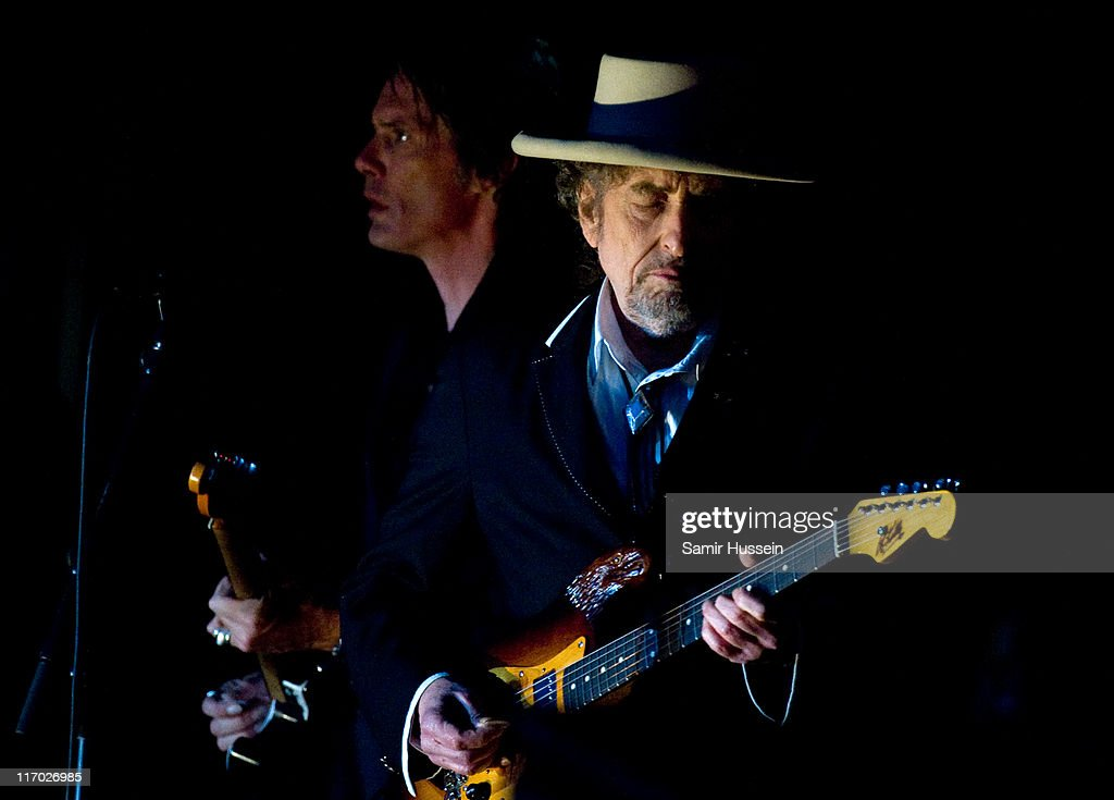 Bob Dylan headlines the Feis Festival in Finsbury Park on June 18, 2011 in London, England.