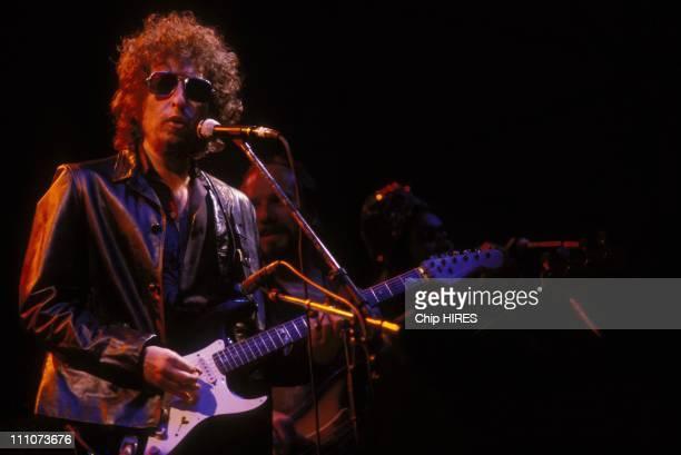 Bob Dylan on stage in Paris Switzerland on June 23 1981