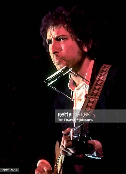 Bob Dylan performing at The Boston Garden January 14, 1974