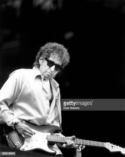 Photo of Bob DYLAN performing live onstage playing Fender Stratocaster