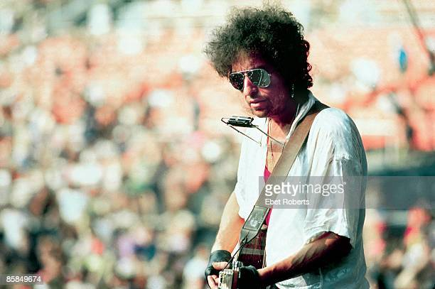 USA Photo of Bob DYLAN performing live onstage wearing sunglasses