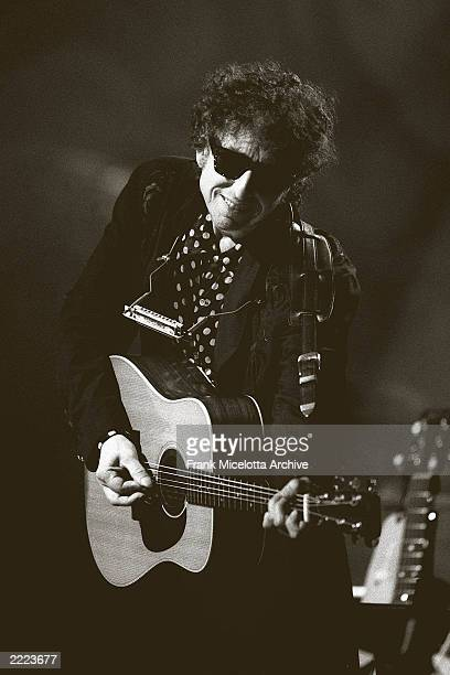 Bob Dylan performing on MTV unplugged at the Sony Music Studio in New York City on November 18 1994 Photo by Frank Micelotta/Getty Images