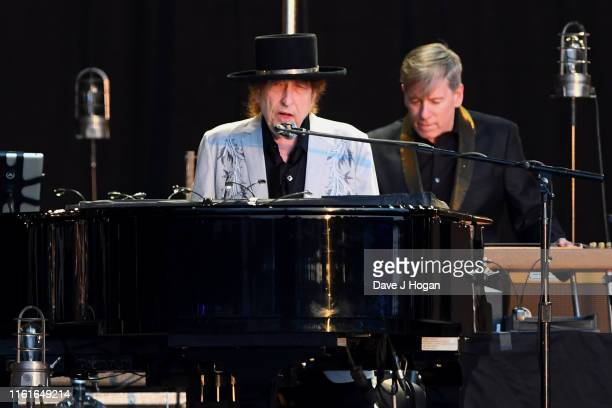 Bob Dylan performs as part of a double bill with Neil Young at Hyde Park on July 12 2019 in London England