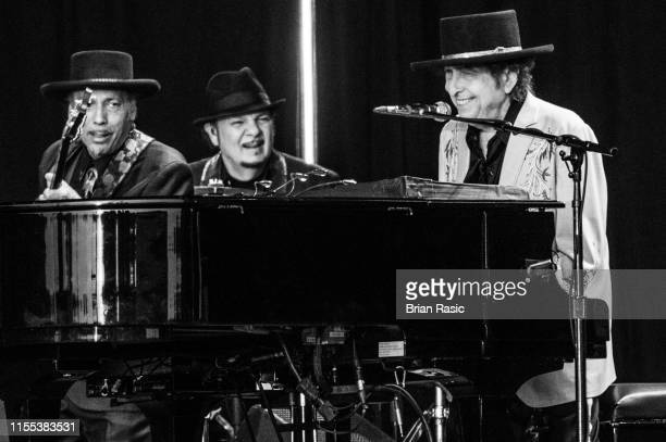 Bob Dylan performs as part of a historic double bill with Neil Young at Hyde Park on July 12 2019 in London England