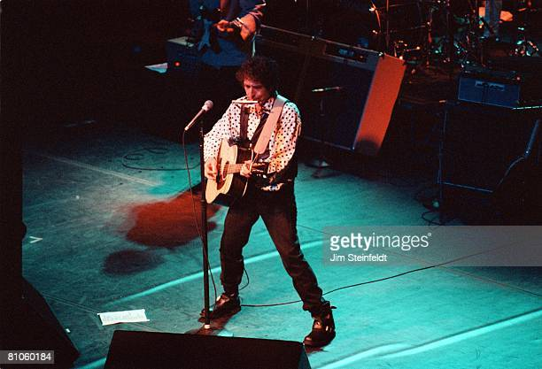 Bob Dylan performs at the Orpheum Theatre in Minneapolis Minnesota on August 29 1992