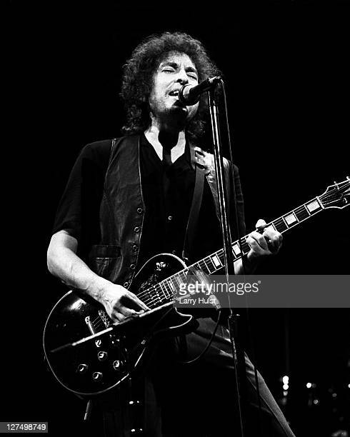 Bob Dylan performs at the Warfield Theater in San Francisco California on November 13 1980