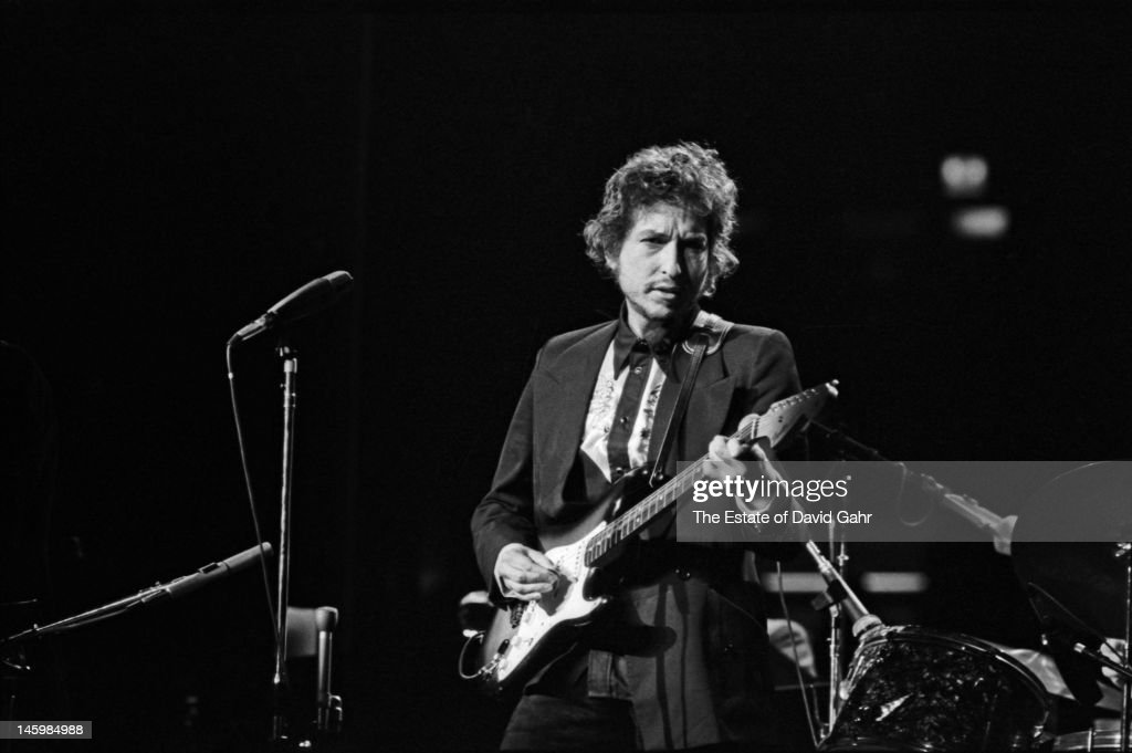 Bob Dylan performs in January 1974 at Madison Square Garden in New York City, New York.