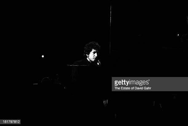 Bob Dylan performs in January 1974 at Madison Square Garden in New York City New York