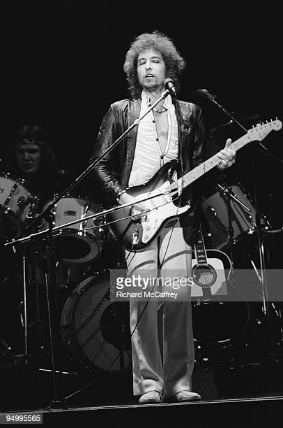 Bob Dylan performs live at The Warfield Theatre in 1980 in San Francisco California