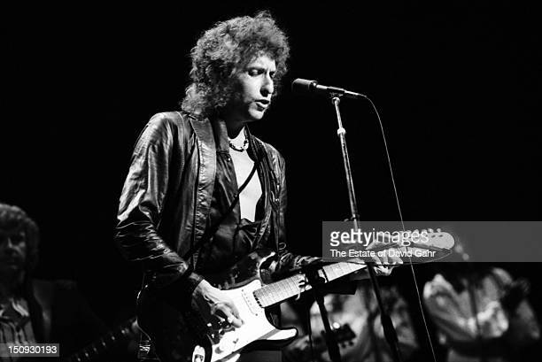 Bob Dylan performs on September 29 1978 at Madison Square Garden in New York City New York