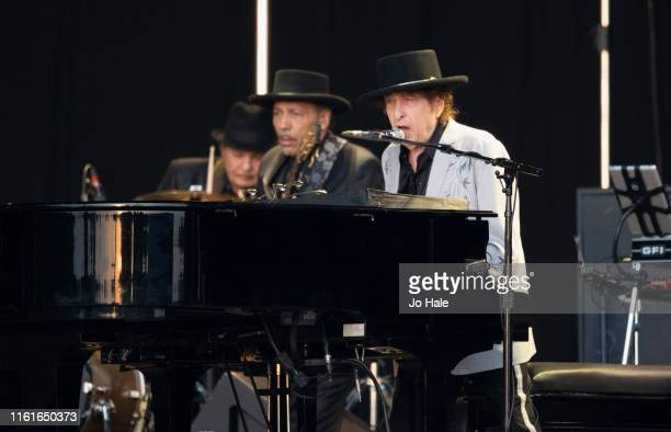 Bob Dylan performs on stage at Barclaycard Presents British Summer Time Hyde Park at Hyde Park on July 12 2019 in London England