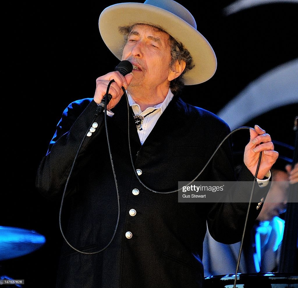 Bob Dylan performs on stage during Hop Farm Festival at Hop Farm Family Park on June 30, 2012 in Paddock Wood, United Kingdom.