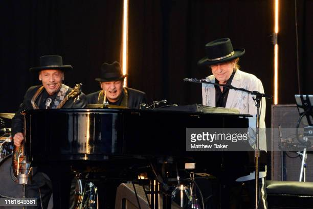 Bob Dylan performs on stage in Hyde Park on July 12 2019 in London England