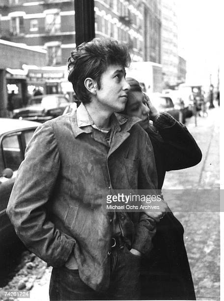 Bob Dylan walking with his girlfriend Suze Rotolo in September 1961 in New York City New York