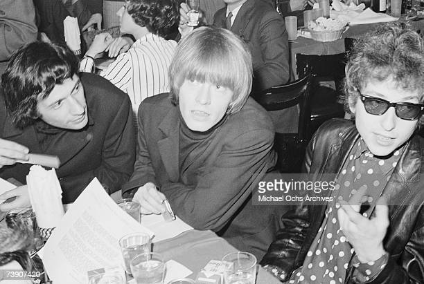 Bob Dylan with Brian Jones of the Rolling Stones in 1965 in New York City New York